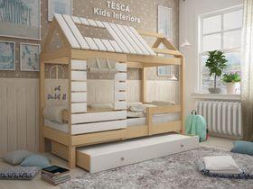 """Кровать - домик """"Eco House"""" из массива бука в натуральном цвете"""