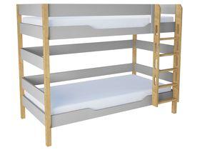 """Детская двухъярусная кровать """"Flash Grey"""" из массива бука"""