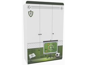 """Детский трехдверный шкаф в комнату мальчика из коллекции """"Футбол"""""""