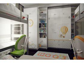 """Комната для троих детей с кроватями из массива бука """"Гео"""""""