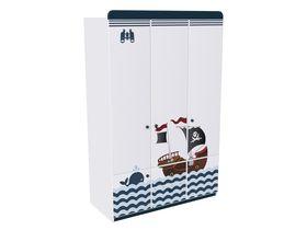 """Детский шкаф трёхдверный с двумя ящиками в комнату мальчика из коллекции """"Морская"""""""
