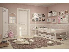 """Детская светлая комната для девочки с кроватью из массива бука """"Парижанка мятная"""""""