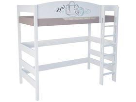 """Кровать чердак из массива бука в детскую высотой 180 см """"Парижанка"""""""