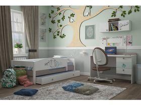 """Светлая комната для девочки с кроватью из массива бука """"Парижанка бирюзовая"""""""